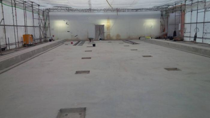 Hecker Bau – Aerotec Maschinenfundament Halle 410