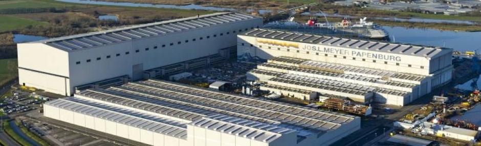 Hecker Bau verlängert Baudock II der Meyer Werft