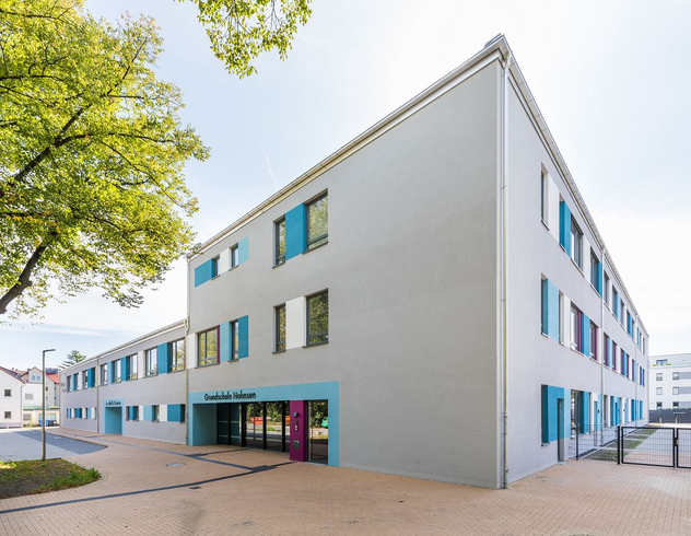 Ansicht des Eingangsbereichs der Schule Hohnsen